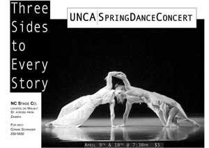 UNCA | Spring Dance Performance 2004 - flyer